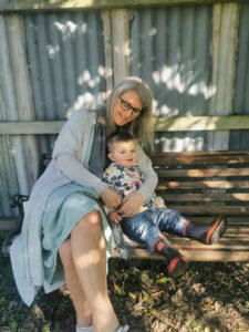 Shelley Templeton with 20 month year old Everett